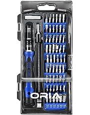 Oria Schraubendreher Set, 60 in 1 Feinmechaniker Schraubendreher Satz für iPhone, PC, Macbook - Blau