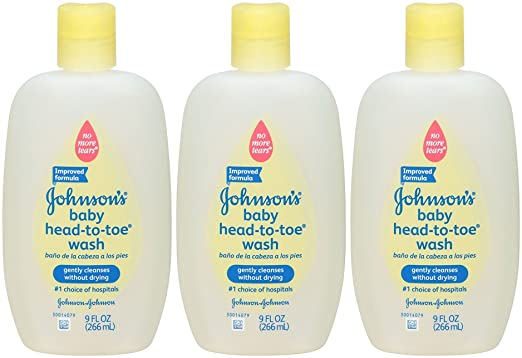 Amazon.com : Johnsons Head-to-Toe Baby Wash - Fragrance Free - 9 oz (Pack of 3) : Baby