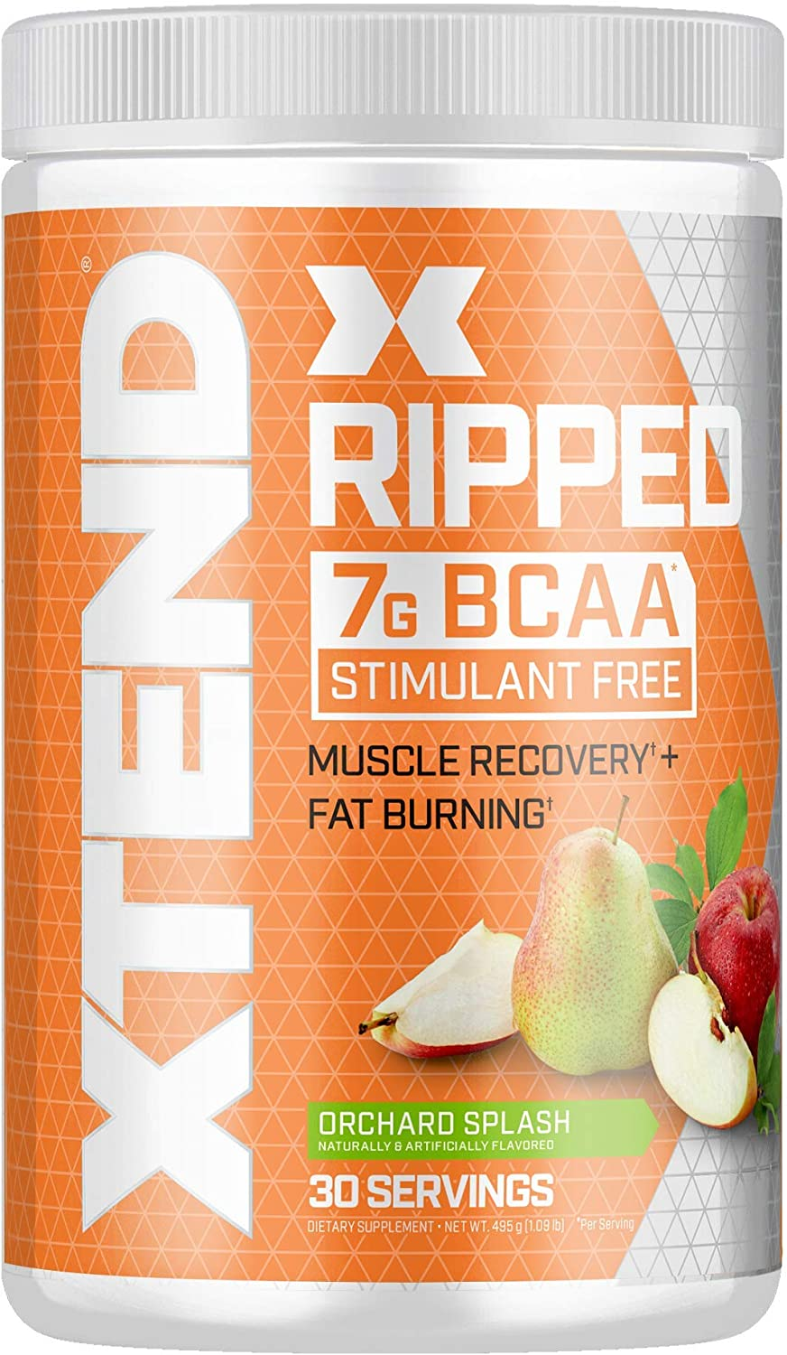 Xtend Ripped Bcaa Powder Orchard Splash Cutting Formula Sugar Free Post Workout Muscle Recovery Drink with Amino Acids 7g bcaas for Men Women 30 Servings