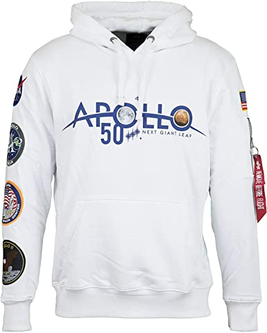 Alpha Industries Apollo 50 Patch Hoody Blanc Small