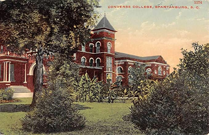 1556c652cd39e2 Spartanburg South Carolina Converse College Street View Antique ...
