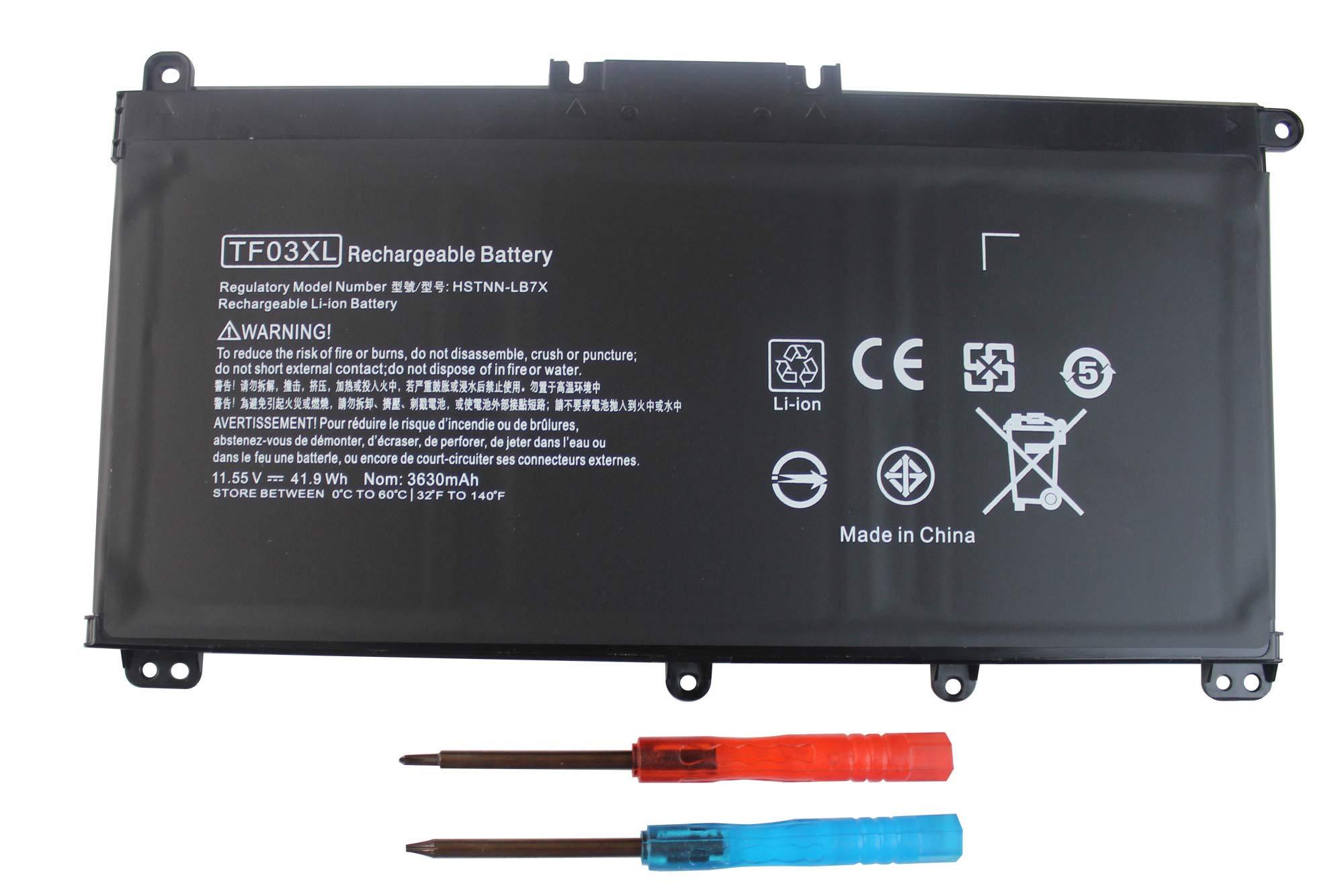 Angwel TF03XL Laptop Battery for HP Pavilion 15-CC 15-CD 17-AR Series, Fit for HP 920046-121 920046-421 HSTNN-IB7Y HSTNN-LB7J TPN-Q188 TPN-Q189 Series[11.55V 41.9WH] — 1 Year Warranty