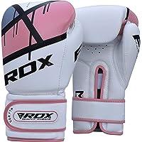 RDX Women Boxing Gloves Maya Hide Leather Gel Sparring Glove Punching Bag Ladies Mitts Training Muay Thai F7
