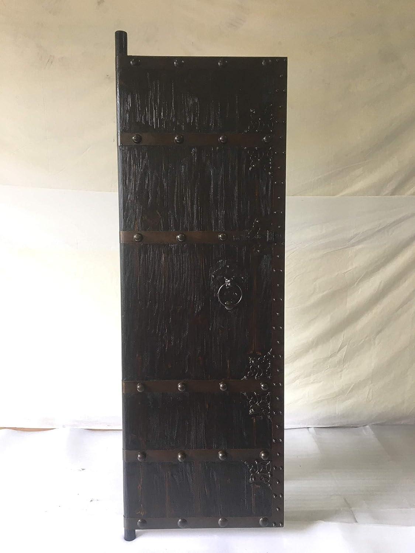Puerta de entrada antigua medieval, puerta de entrada de madera maciza, anchura 70 x altura 200 cm