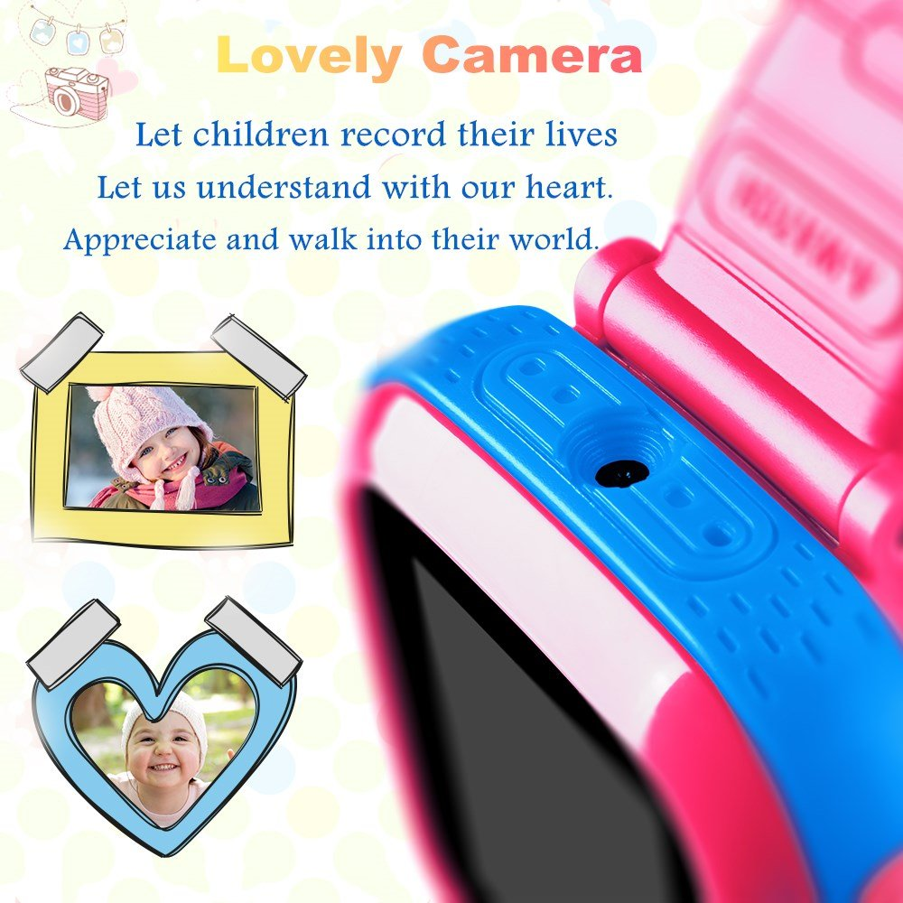 "Kids Game Watch Smart Watch For Kids Children's Birthday Gift With 1.5 "" Touch Screen And 10 Games, Children's Watch Pedometer Clock Smart Watch Kids Toys Boys Girls gift.(joint pink) by KKLE (Image #1)"