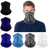 Dapaser 6 Pack Cooling Neck Gaiters for Men Women Breathable Dust UV Protection Multifunctional Reusable Face Cover