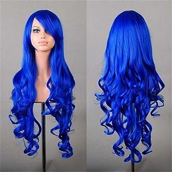 Chiguo 32/ 80cm Peluca de las Mujeres Moda Multicolor Pelo Largo Rizado Pelo