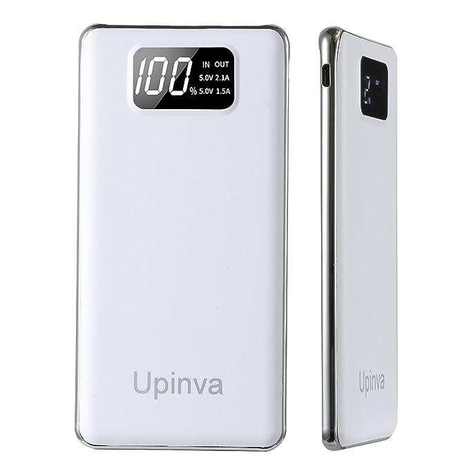 upinva portátil Ultra Slim Power Bank con 2 puertos USB ...