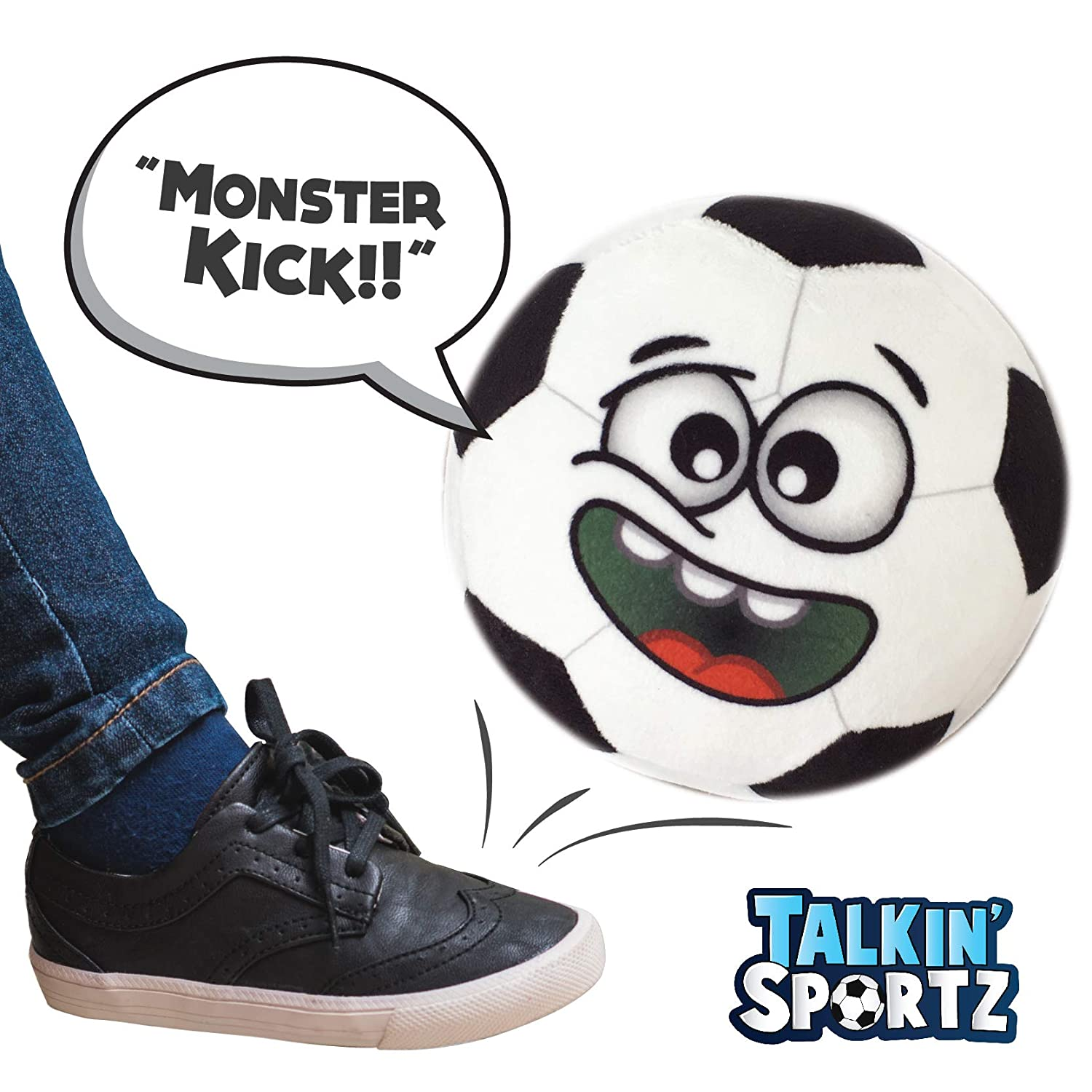 Talkin' Sports, Hilariously Interactive Toy Soccer Ball with Music and Sound FX for Toddlers