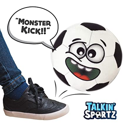 1aa6001ea32f Talkin' Sports, Hilariously Interactive Toy Soccer Ball with Music and  Sound FX for Toddlers