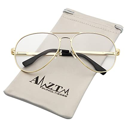 0aedf0288c9 AMZTM Outdoor Reading Working Anti Blue Light Glasses Classic Fashion Retro Double  Bridge Metal Frame Non