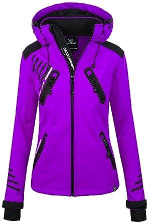d2a617416baffa Rock Creek Damen Softshell Jacke Outdoorjacke Windbreaker Übergangs Jacke -  Violett - 36/S