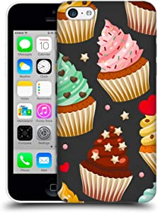 Head Case Designs Officially Licensed Haroulita Red and Yellow Cupcakes Food - Fruits Hard Back Case Compatible with Apple iPhone 5c