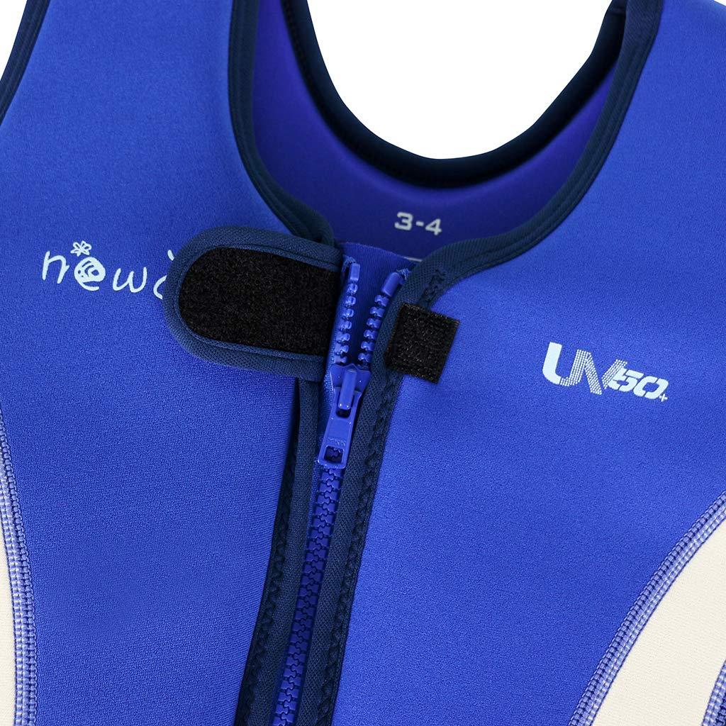 WYTbaby Kids Swim Vest Toddler Neoprene Float Swimming Jacket Boys Girls Buoyancy Swim Trainer Vest 2-3 Years