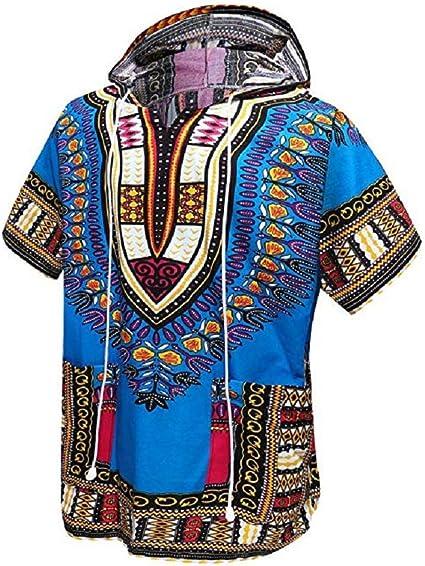 Orang - Dashiki africano, indio, camisa unisex, sudadera con capucha, talla única Azul azul celeste Talla única: Amazon.es: Ropa y accesorios