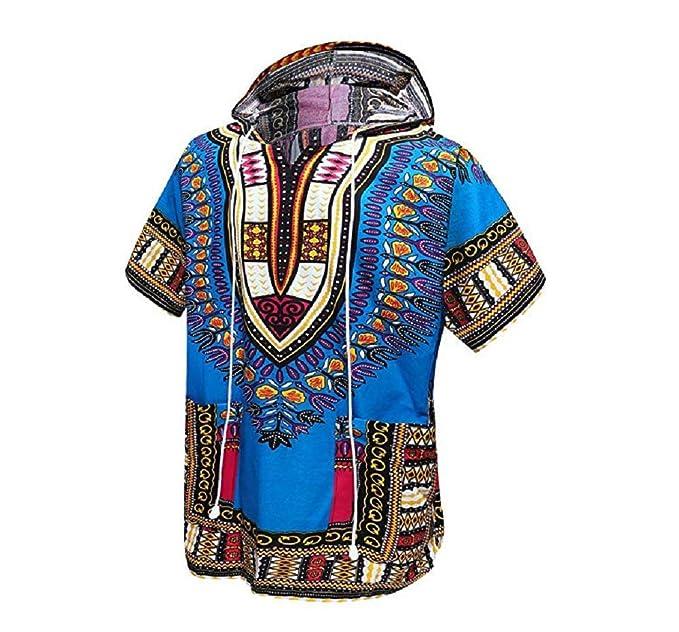 Orang African Dashiki Shirt Unisex Africa Indian Indian Hoodie Traje de Chaqueta por One Size Fits All