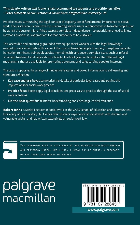 Capacity and Autonomy (Focus on Social Work Law): Amazon co uk