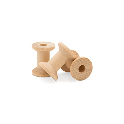 Large Unfinished Wooden Spools 2 X 1 38 Pack Of 100 By Woodpeckers