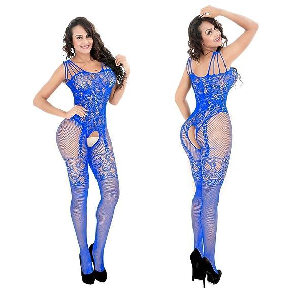 Yoli - Medias autoadhesivas - para mujer azul Talla única