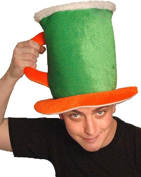 Último día de San Patricio irlandés verde de lentejuelas sombreros ...