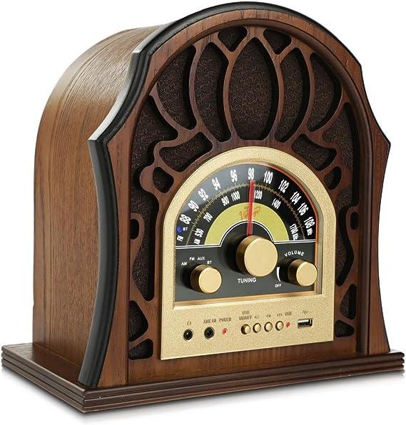 Pyle Retro Speaker Vintage Radio - Classic Style Stereo