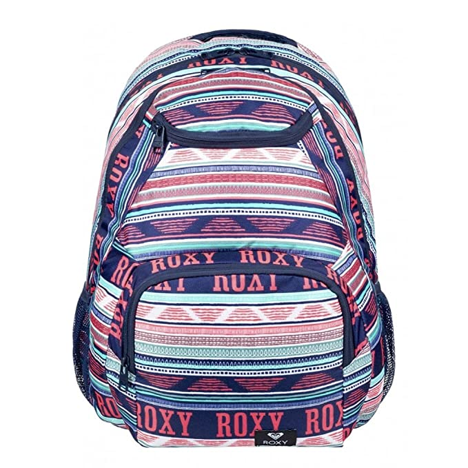 Roxy Shadow Swell Mochila Mediana, Mujer, Verde/Blanco (Bright White AX Boheme Border), 24 l: Amazon.es: Deportes y aire libre