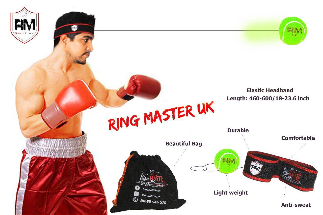 RingMasterUK Head Speed ball Tennis Punch Reflex Focus Training Boxing Kickboxing MMA Martial Arts Fitness