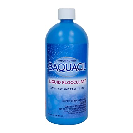 Baquacil 84340 Liquid Flocculant Swimming Pool Chemical, Support Products,  Clear