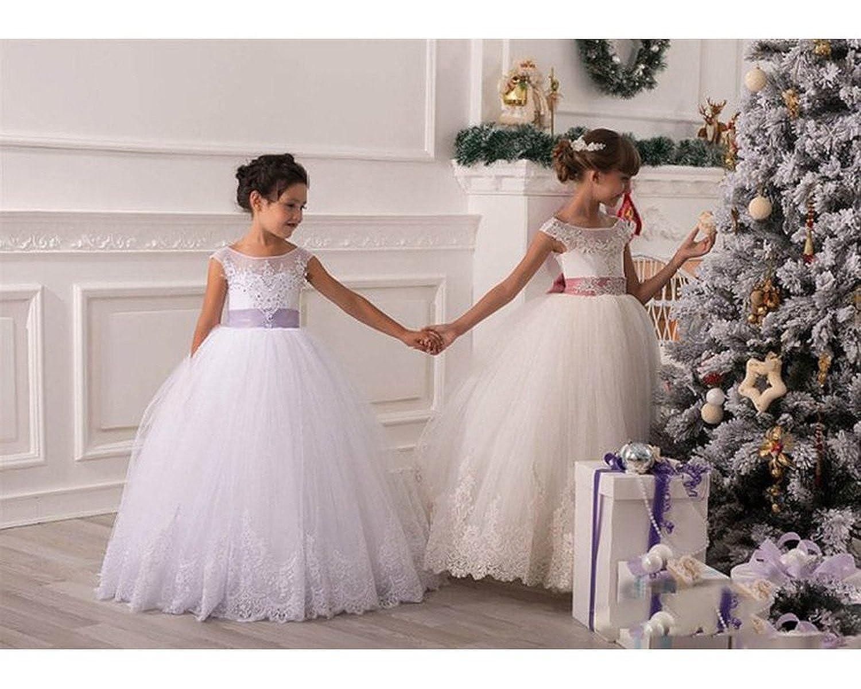 f96b98daa KekeHouse® Cordón Flor Niña Vestidos Tul Princesa Niña niños Vestir ...