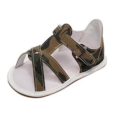 Allywit Toddler Baby Boy Girl Casual Sandals Summer Soft Flat Roman Shoes