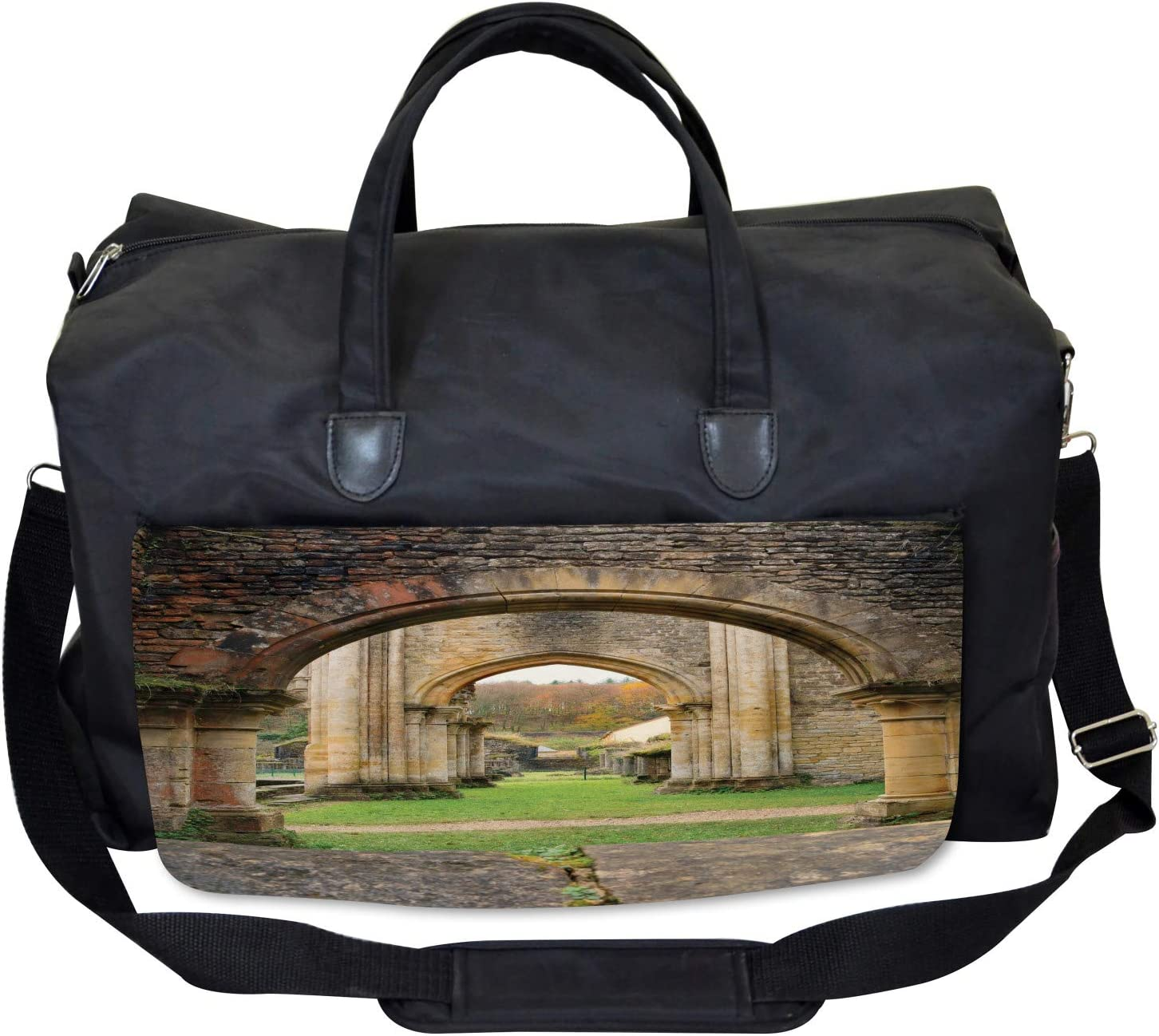 Autumn Ruins View Ambesonne Antique Gym Bag Large Weekender Carry-on