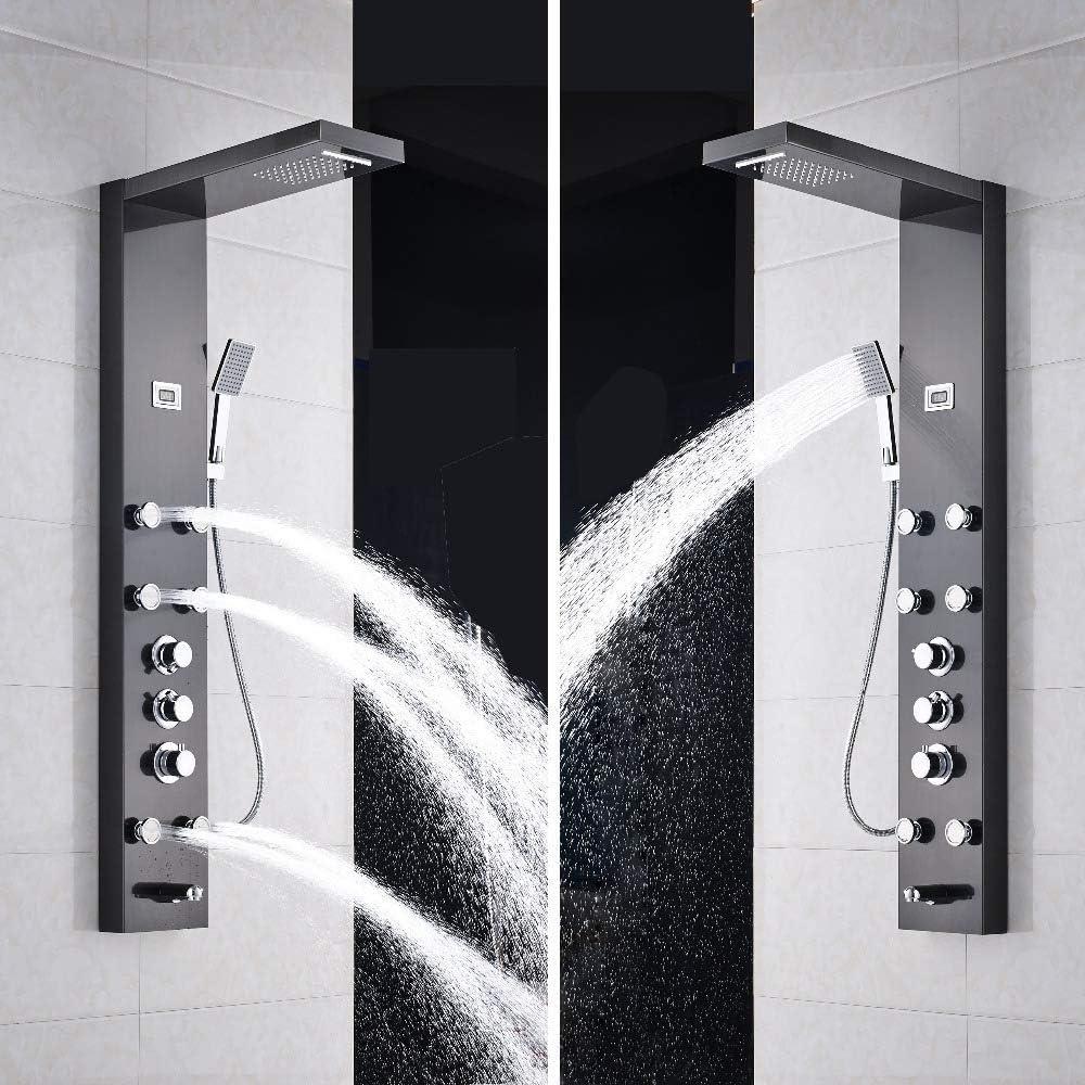 XZ Inicio Cascada Chorros de masaje de 6 piezas Columna de ducha ...