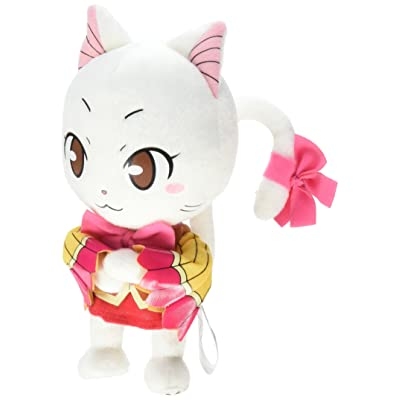 "GE Animation Fairy Tail Carla Exceed Cat Stuffed Plush, 8"": Toys & Games"