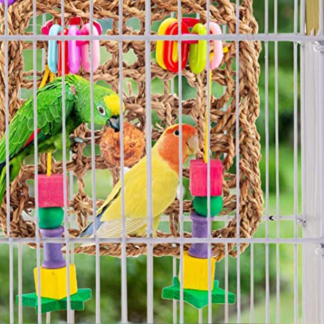 Decoración de Jaula Colgante para Loros Accesorios, para pájaros ...