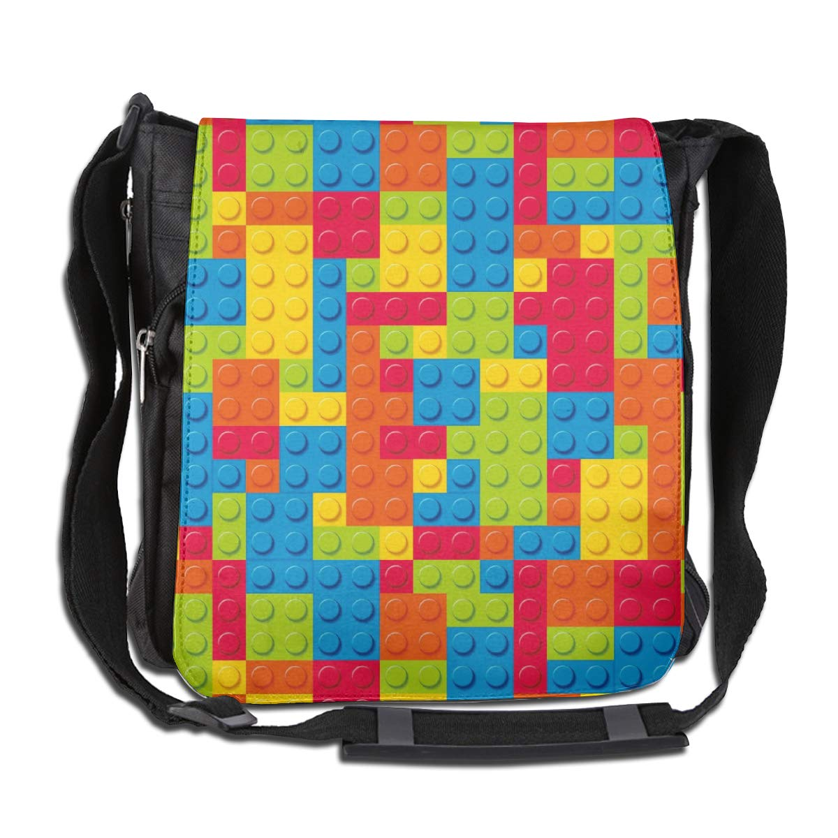 Jigsaw Puzzle Men Women Classic Satchel Messenger Bags Crossbody Sling Working Bag Travel Shoulder Bags Office//School