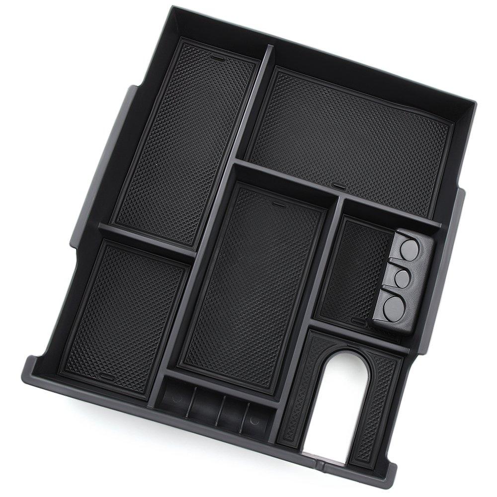 POZEL Center Console Insert Organizer Tray for 2007-2018 Toyota Tundra; 2008-2018 Toyota Sequoia