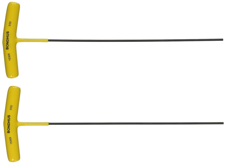 "Bondhus 15305 3/32"" Hex Tip T-Handle with ProGuard Finish"