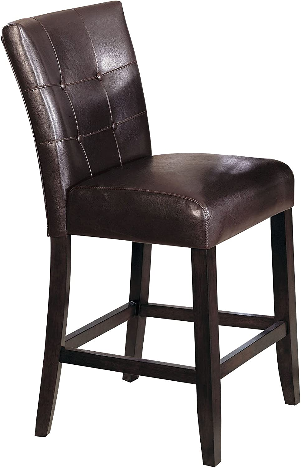 ACME 07055 Set of 2 Counter Height Chair, 24-Inch Height, Brown