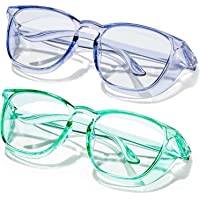 TYSW Safety Glasses Fashion Safety Colorful Blocking Glasses Protective Eyewear Safety Goggles for Women Men Glasses…
