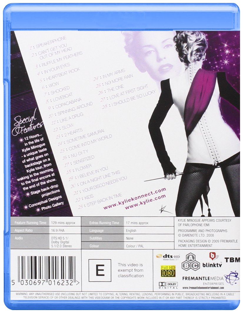 Kylie Minogue - Kylie Live X2008 Blu-ray Region Free Reino Unido ...
