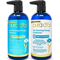 PURA D'OR Hair Thinning Therapy System - Biotin Shampoo & Conditioner Set for Hair Thinning Prevention With Natural…