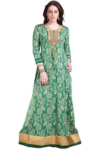 e9919faa5 kolkozy Fashion bordado de la mujer formal Fiesta Maxi vestido verde ...