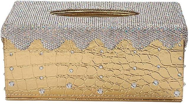 Crystal Luxury Elegant Bling Home Table Car Tissue Box Cover Holder Silver