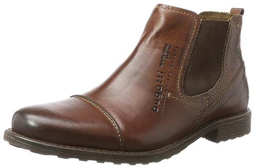 Bugatti 311386331000, Botas Chelsea para Hombre, Rojo (Bordo), 44 EU: Amazon.es: Zapatos y complementos