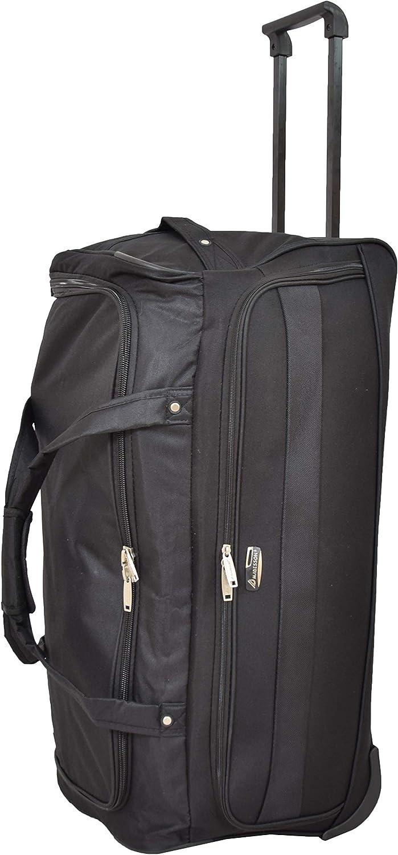 Marco Large Travel Duffle 28 Wheeled Holdall Soft Lightweight Luggage Trolley Bag Black