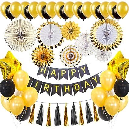 Amazon.com: 53 piezas de adornos para fiestas de cumpleaños ...