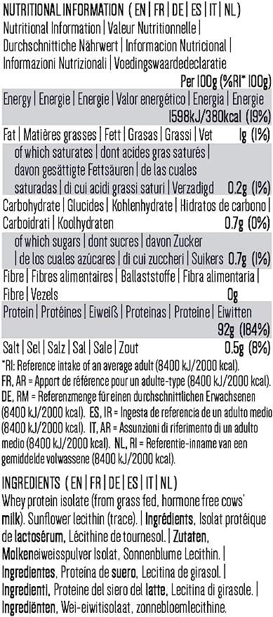 PINK SUN Natural Whey Aislado de Proteína de Suero 1kg Hierba Alimentada sin Hormonas Neutro sin Sabor sin Gluten sin Soja Whey Protein Isolate Powder ...