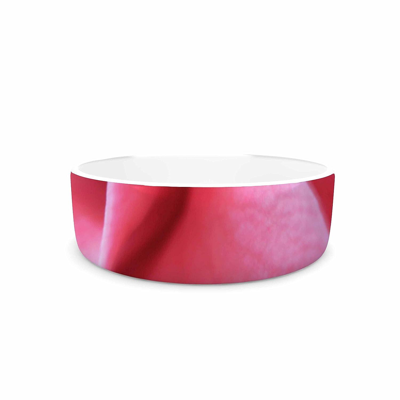 7\ KESS InHouse Alison Coxon Camellia Pink Greeen Pet Bowl, 7