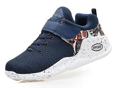 SHOWHOW Herren Bequem Low Top Klettverschluss Jungen Sneakers Schwarz 40 EU lAsqkP70