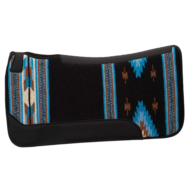 Weaver Leather Unisex-Adult Saddle Pad 35-1677-S8, Black bluee, 31  L x 32  W